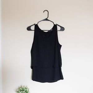 Express Sleeveless Flowy Tank Blouse Black - S